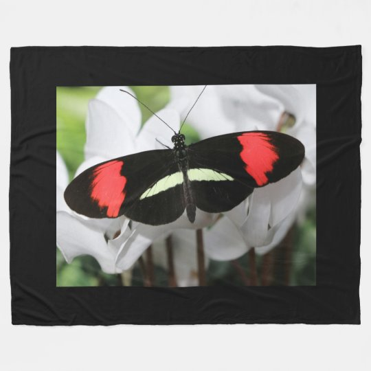 Longwing Butterfly Fleece Blanket