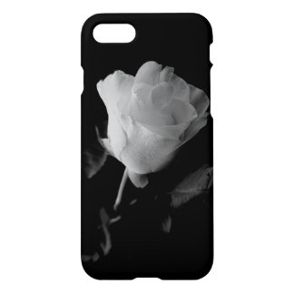 Lonley Rose Case, Black and White iPhone 7 Case
