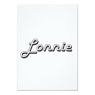 """Lonnie Classic Retro Name Design 3.5"""" X 5"""" Invitation Card"""
