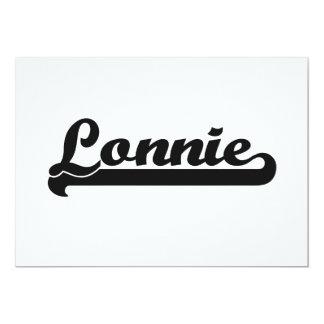 """Lonnie Classic Retro Name Design 5"""" X 7"""" Invitation Card"""