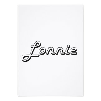Lonnie Classic Retro Name Design 5x7 Paper Invitation Card
