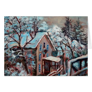 Lonsdale Mill in the snow Card