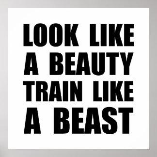 Look Beauty Train Like Beast Poster
