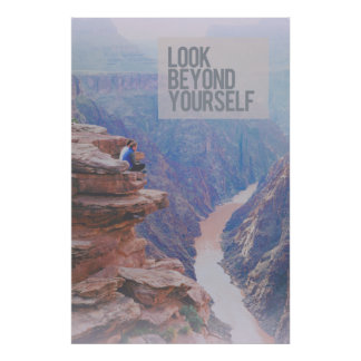 Look Beyond Yourself Grand Canyon Large Poster