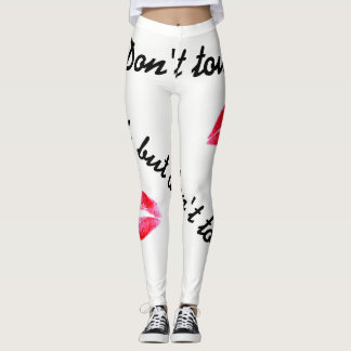 Look but dont touch with kisses leggins leggings