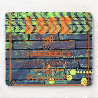 Look For Beauty in the Everyday Brick Wall Digital Mouse Pad
