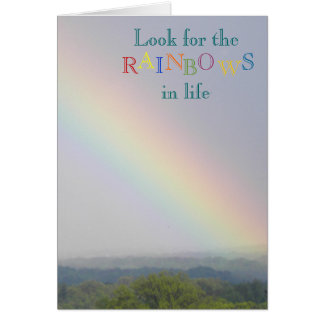 Look for the Rainbows - Blank Notecard