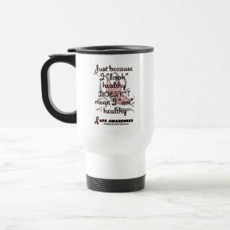 """Look"" healthy/Butterfly...APS Travel Mug"
