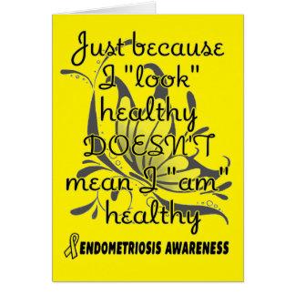 """""""Look"""" healthy/Butterfly...Endometriosis Card"""