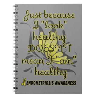 """""""Look"""" healthy/Butterfly...Endometriosis Notebook"""