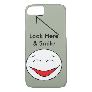Look Here and Smile Cell Phone Case