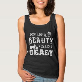 Look Like A Beauty, Ride Like A Beast Biker Shirt