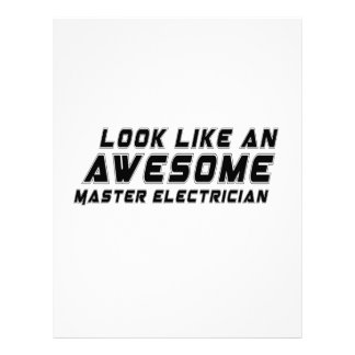 Look Like An Awesome Master Electrician Customized Letterhead
