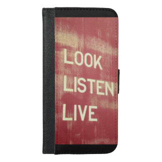 Look. Listen. Live. iPhone Case