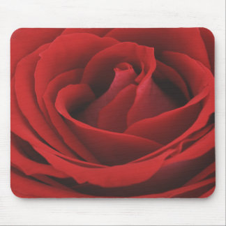 Look of a Velvet Rich Red Rose Mousepad