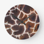 Look of Africa Giraffe Skin Effect Clock