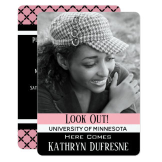 Look Out Here I Come Graduation Invitation