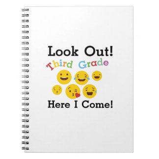Look Out Third Grade  3rd Emoji Funny Gifts Notebook