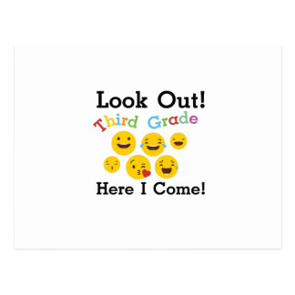 Look Out Third Grade  3rd Emoji Funny Gifts Postcard