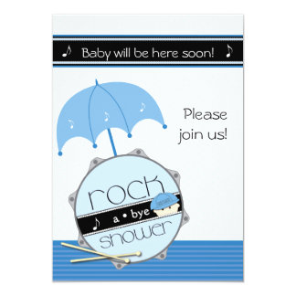 Look out world, here I drum! BabyShower invitation