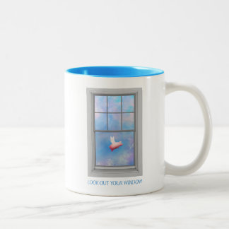 Look Out Your Window Two-Tone Coffee Mug