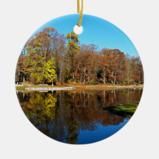 Look Over Yonder Round Ceramic Ornament