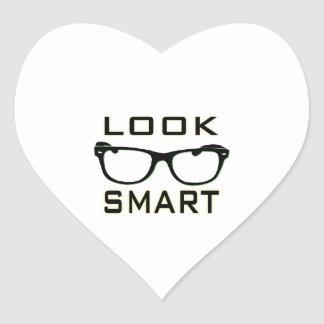 Look Smart Heart Sticker