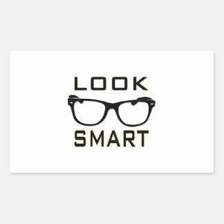Look Smart Rectangular Stickers