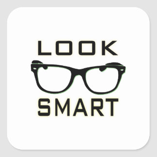 Look Smart Square Stickers
