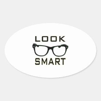 Look Smart Oval Sticker