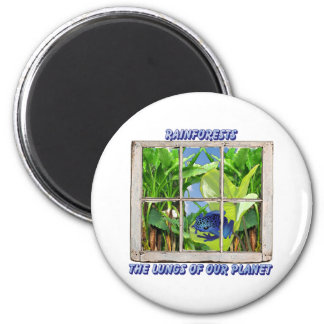 Look Through Any Window 2 Inch Round Magnet