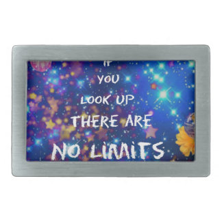 Look up and you see the wonder surrounds us rectangular belt buckle