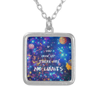 Look up and you see the wonder surrounds us silver plated necklace