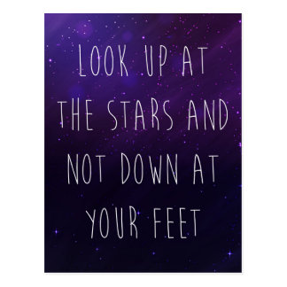 Look Up At The Stars Motivational Quote Postcard