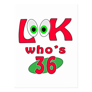 Look who is 36 ? postcard