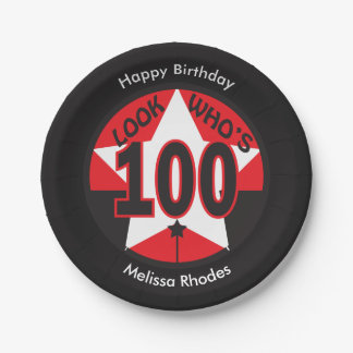 Look Who's 100 Years Old   100th Birthday Paper Plate