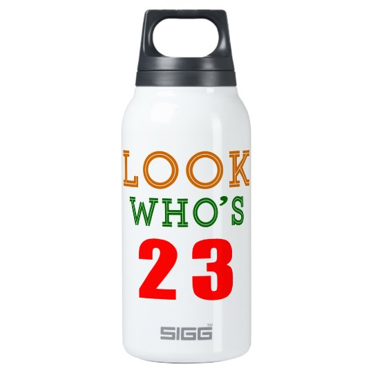 Look Who's 23 Insulated Water Bottle