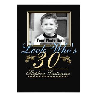 "Look Who's 30 Photo 5"" X 7"" Invitation Card"