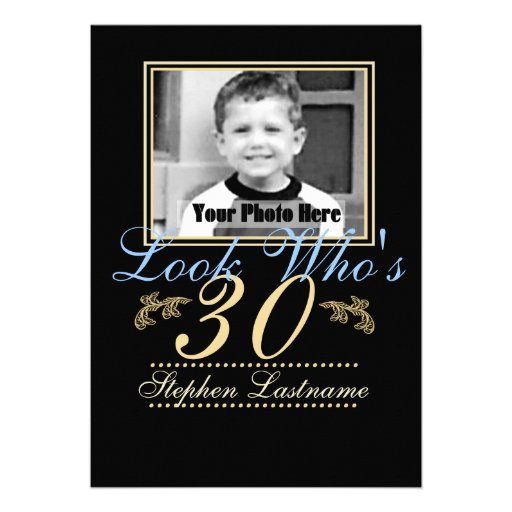 Look Who's 30 Photo Personalized Announcement