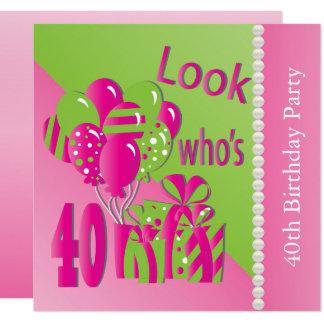 40th Birthday Party For Her Invitations Announcements Zazzle