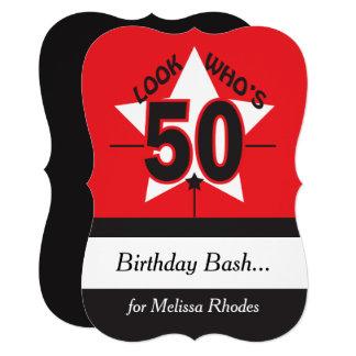 Look Who's 50 Birthday | 50th Inivitation Card
