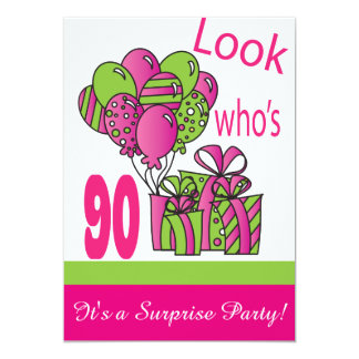 Look Who's 90   90th Birthday Card