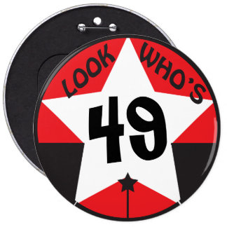 Look Who's (Change the Age) Happy Birthday 6 Inch Round Button