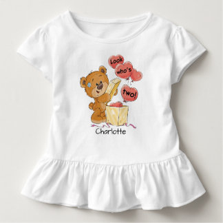 Look Who's Two Bear Toddler T-shirt