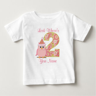 Look Who's Two Girls Birthday Shirt