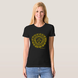 Look Within Organic T-shirt Gold Print