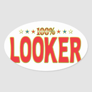 Looker Star Tag Oval Stickers