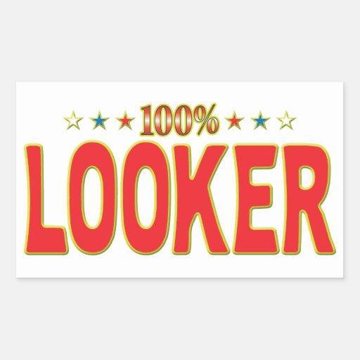 Looker Star Tag Rectangular Sticker
