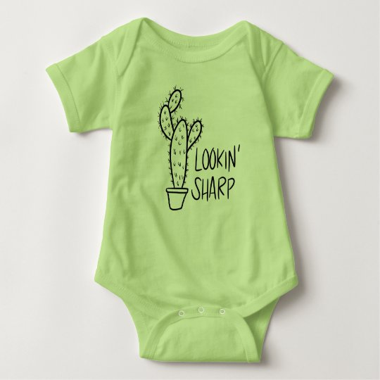 Lookin' Sharp Cactus Baby Bodysuit