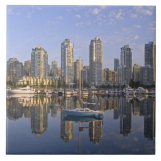 Looking across False Creek at the skyline of 2 Tile